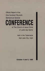 Music from October 1986 General Conference (1986)