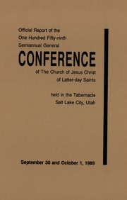 Music from October 1989 General Conference (1989)