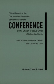 Music from October 2000 General Conference (2000)