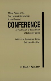 Music from April 2001 General Conference (2001)