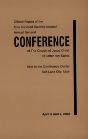 Music from April 2002 General Conference (2002)