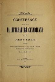 Conference sur la littérature Canadienne