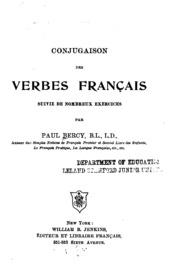 Conjugaison Des Verbes Francais Suivie De Nombreux Exercices Paul Bercy Free Download Borrow And Streaming Internet Archive