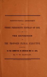 Constitutional amendment fo...