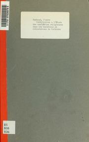 Contribution a létude des confréries religieuses dans les maitrises et corporations de Poitiers