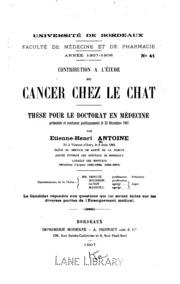 Contribution à l-étude du cancer chez le chat