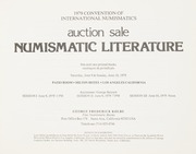 1979 Convention of International Numismatics Auction Sale