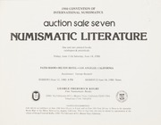 1980 Convention of International Numismatics Auction Sale Seven