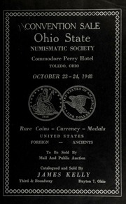 Convention sale : Ohio state numismatic society ... [10/23-24/1948]