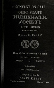 Convention sale : Ohio state numismatic society ... [03/26-27/1949]