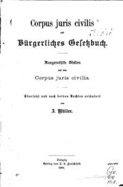 Corpus Juris civilis und bürgerliches Gesetzbuch: Ausgewählte Stellen aus ...