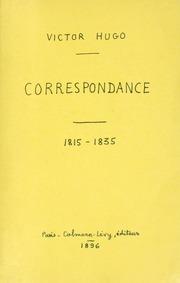 Vol 1: Correspondance