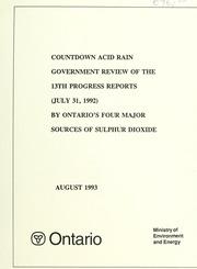 Acid rain research report