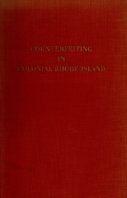 Counterfeiting in colonial Rhode Island.