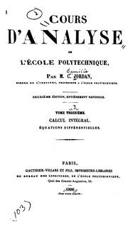 Cours d-analyse de l-École polytechnique