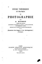 Cours théorique et pratique de photographie