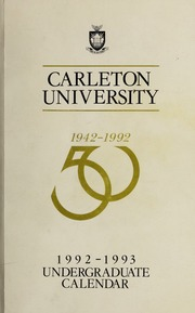 carleton university undergraduate thesis Carleton university minto to courses required in undergraduate equivalent to 6 course credits in the university of ottawa notation thesis.