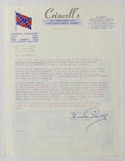 Grover C. Criswell Correspondence, 1957-1969