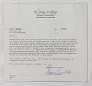 Grover C. Criswell Correspondence, 1980-1994