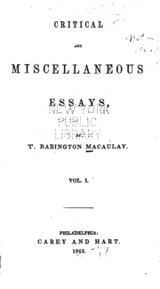 critical and miscellaneous essays Critical and miscellaneous essays by thomas carlyle 46 editions first published in 1800 subjects: history and criticism, german literature, modern literature.
