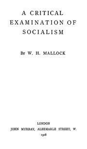 a critical examination of socialism pdf