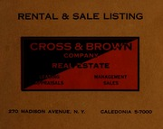 Cross & Brown Company real ...