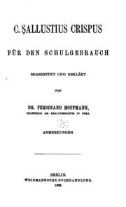C. Sallustius Crispus für den Schulgebrauch bearb