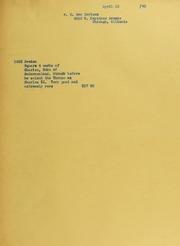 C. Sam Carlson Invoices from B.G. Johnson, April 12, 1940