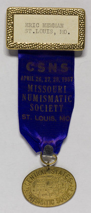 Eric Newman's Central States Numismatic Convention Medal, 1957