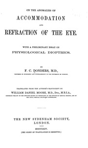 on the ano es of accommodation and refraction of the eye a on the ano es of accommodation and refraction of the eye a preliminary essay on physiological dioptrics