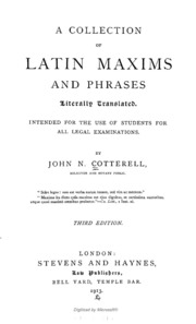 Legal Maxims Dictionary Pdf