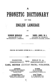 A phonetic dictionary of the English language : Michaelis, H