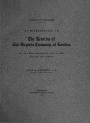 an introduction to the history of the virginia company History by era an introduction virginia company of london was a joint-stock company chartered by king james i in 1606 to colonize the area between what is now new york and south carolina the company established jamestown in 1607 in 1624, however, the company was dissolved, and virginia.