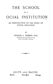 Essay on school as a social institution