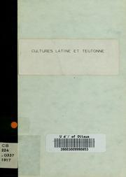 Cultures latine et teutonne