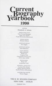 Current biography yearbook, 1998 : Schick, Elizabeth A