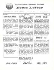 CWNA Newsletter: Fall 1971