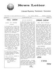 CWNA Newsletter: Winter Spring 1971