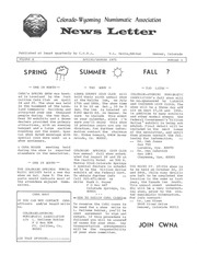 CWNA Newsletter: Spring Summer 1971