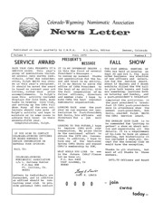CWNA Newsletter: Fall 1972