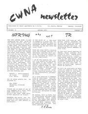 CWNA Newsletter: Spring 1973