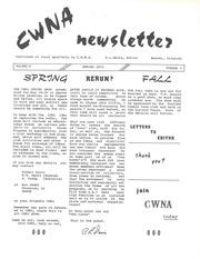 CWNA Newsletter: Spring Fall 1973