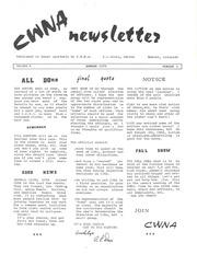 CWNA Newsletter: Summer 1973
