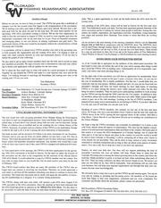 CWNA Newsletter: January 1995