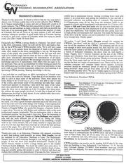 CWNA Newsletter: November 1996