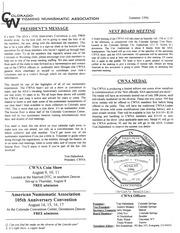 CWNA Newsletter: Summer 1996
