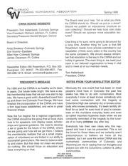 CWNA Newsletter: Spring 1999