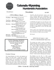 CWNA Newsletter: Fall 2007