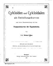 Cykloiden und Cykloidalen als Umhüllungskurven und deren Zusammenhang mit ...