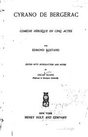 Cyrano de Bergerac: comédie héroïque en cinq actes